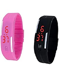 Rtimes Combo Of 2 Digital Multicolor Dial Unisex Watch-Led Combo Digital Watch