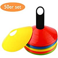 50PCS Soccer Ball Space Markers Conos para Deporte Running Fútbol Fútbol Rugby Fitness Agility Training