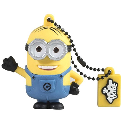 Tribe Minions Dave USB Stick 8GB Speicherstick 2.0 High Speed Pendrive Memory Stick Flash Drive, Lustige Geschenke 3D Figur, USB Gadget aus Hart-PVC mit Schlüsselanhänger - Gelb