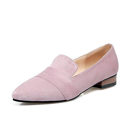 balamasa-ladies-square-heels-pointed-toe-pull-on-purple-urethane-flats-shoes-45-uk