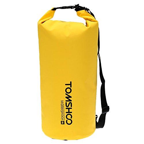TOMSHOO 10L / 20L Outdoor Water Resistant Dry Bag Stausack Aufbewahrungstasche für Reisen Rafting Segeln Kajak Kanufahren Camping Snowboarding (Für Kajak)