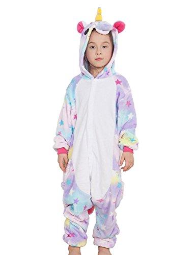 sex Einhorn Tiere Loungewear Pyjamas Partywear Nachtwäsche Cosplay Kostüme (Star, 125cm) ()