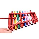 Bambino 8 Nota xilofono strumento musicale Metal Knock pianoforte giocattoli con fogli di battitore/canzone per i bambini i più piccoli bambini da Beby