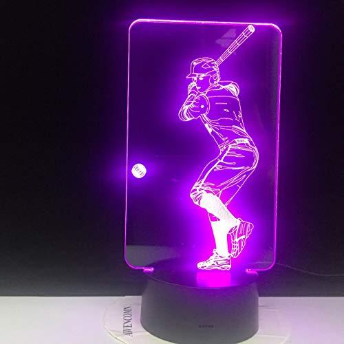 Neuheit Neue Aktion Baseball Dia Fernbedienung Nachtlicht Farbe Lampe Familie Dekoration Kinder Geschenk Mann