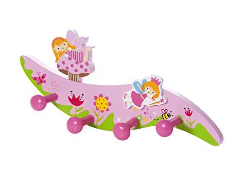 Mousehouse gifts attaccapanni da muro a quattro ganci appendi ganci a parete abiti a tema fata per bambine per camera da letto o stanza dei bambini