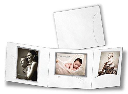 """5 Stk. Portraitmappe 3-teilig für 13x18 Fotos & CD im Design """"Studio"""" Fotomappe Leporello für Studio, Kindergarten, Schule"""