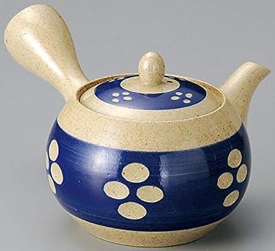 Yamakiikai Japonais en céramique Kyusu Théière Naturel avec Ceinture Bleue avec Inoxydable Passoire Fy1329à partir du Japon