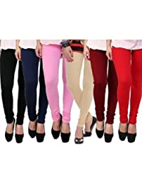 Fashion Trendz Women's Leggings Pack Of 6 (multi Color) Free Size