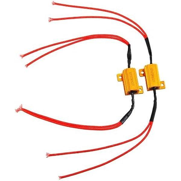 Ecloud Shop Paar Led Blinker Widerstand 8 Ohm Widerstände 25 Watt Auto