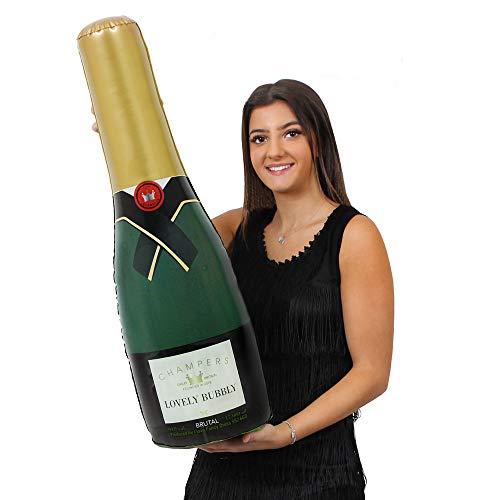 Wasser Halloween Kostüm Flasche - ILOVEFANCYDRESS AUFBLASBARE Champagne Flasche UNGEFÄHR 73cm HOCH=ERHALTBAR IN VERSCHIEDENEN STÜCKZAHLEN = DIE PERFEKTE Dekoration FÜR Jede Art DER Party DER Hochzeit ODER Geburtstag = 2 Flaschen