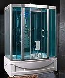 Cabina hidromasaje con bañera 150 x 90 cm Full opcional multifunción con baño turco