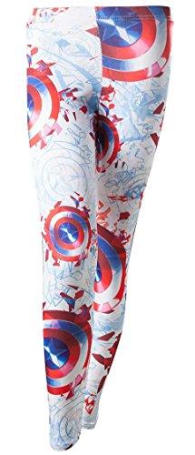 Captain America Leggings Größe XS Damen Legging Hose Marvel Shield