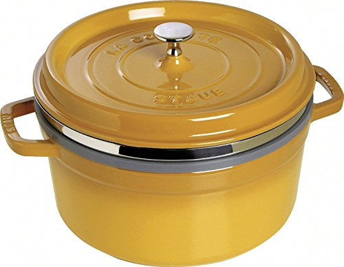 Staub 1133812 Casseruola Tonda a Vapore, 26cm, colore giallo