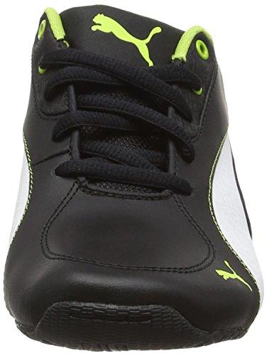 Puma Driftcat5lnujrf6, Baskets Basses Mixte Enfant Noir (Blk/Wht/Lime 03)