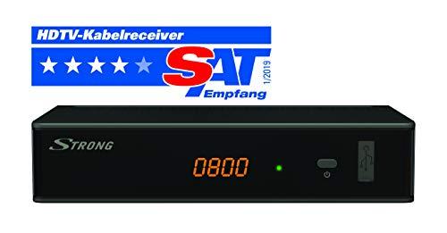 STRONG SRT 3002 HD Receiver für digitales Kabelfernsehen DVB-C Full HD (HDTV, HDMI, SCART, USB, Mediaplayer) Schwarz