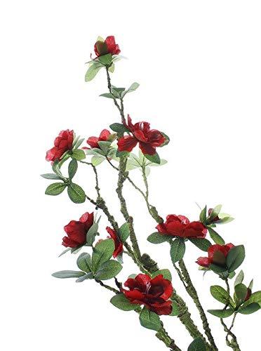 GANHUA 90 cm Künstliche Blume Reben Magnolie für Hochzeitsdekoration Seidenblumen Rattan Schäumen Zweig für Zuhause Wandbehang DecorRot -