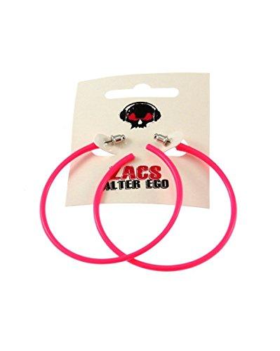 Zac's Alter Ego ® Kunststoff Creolen Ohrstecker Ohrrings bei Fancy Dress, Clubgängern, 80er Dancewear Henne Party (Henne Kostüm)