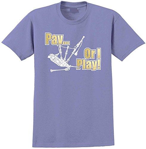 Pay or I Play - Violett T Shirt Größe 81cm 32in Med 9-11 Jahr ()