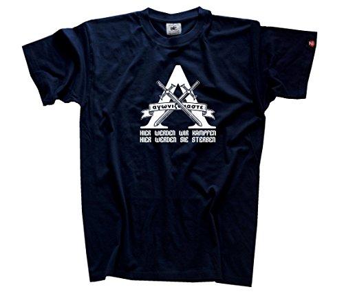 Hier werden wir Kämpfen-hier werden sie sterben Lambda Sparta T-Shirt Navy L (Sterben Hoody)