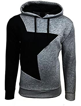 Sannysis Herren Hoodie Warm Hooded Sweatshirt Jacke Pullover
