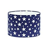 Navy Blue White Stars Drum Lampshade Lamp Shade Lightshade