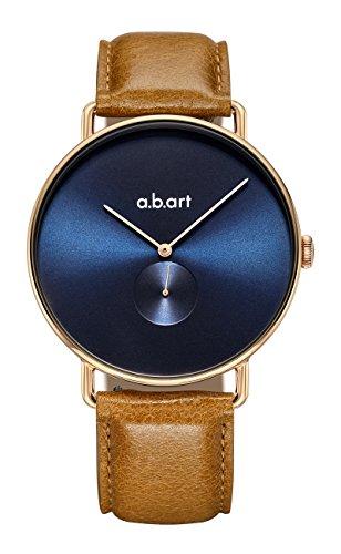 abart Swiss Brand Watches for Men FA41-012-3L Rose Gold Case Blue Dial Quartz Movement Dress Watch