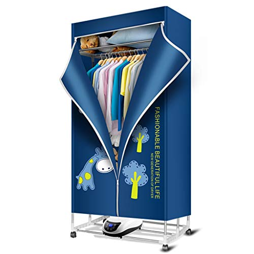 Heated airer asciugabiancheria asciugatura rapida pieghevole muto telecomando a tre piani in acciaio inox abiti da tostatura asciugatrice asciugatrice asciugatrice (colore : blu)