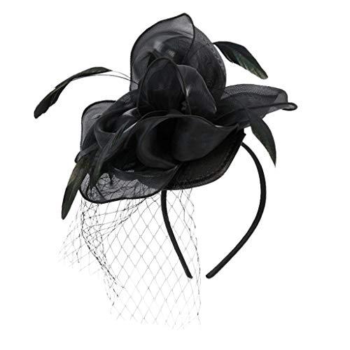 and Haarspange,Flower Flapper Stirnband Great Gatsby Kopfschmuck Mesh Vintage speciales Fascinators Stirnband für Frauen Hochzeit Tea Party Stirnband Kostüm Zubehör ()
