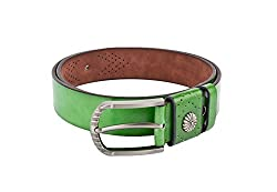 Swiss Design Green Casual Leatherite Belt