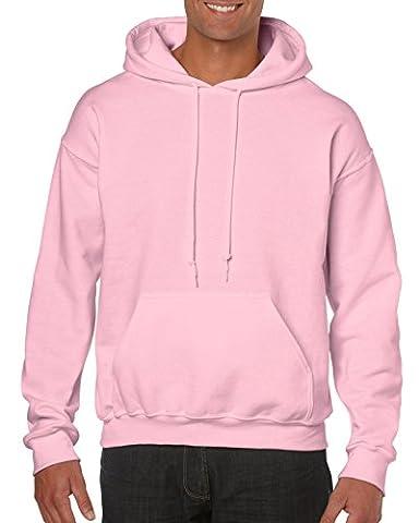 GILDAN Pull à capuche pour homme - rose - Medium