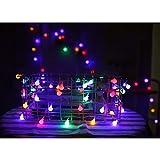 WANGXB Kugel Lichterkette,LED Lichterkette,WeihnachtLicher. Lichterkette Wasserdicht,für Weihnachtsdeko,Bäume,Terrasse,Hochzeiten,Party usw (Bunt).