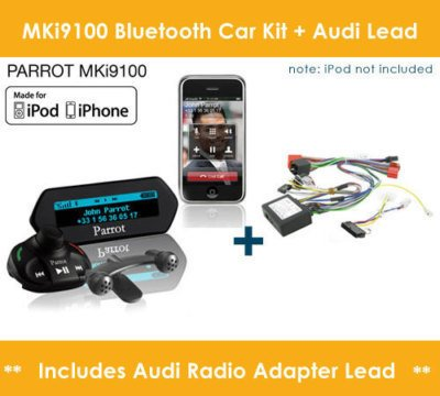 Parrot MKi9100 Bluetooth Car Kit + Connects2 CTTAU001 Musik Kabel Parrot Mki9100 Bluetooth