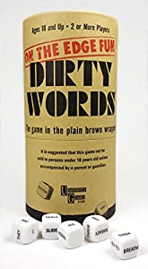 University Games 3505 Dirty Words, Marrón álbum de Foto y Protector