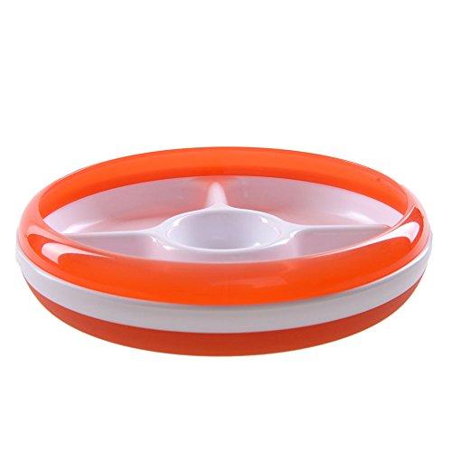 Teller - dreigeteilt - orange