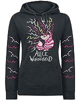 Walt Disney Alice in Wonderland - Lightning Cheshire Sweat capuche Femme noir S