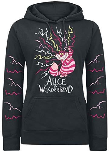 Alice im Wunderland Alicia en el País de Las Maravillas Lightning Cheshire Jersey con Capucha Mujer Negro