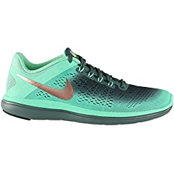 Nike 852447-300, Zapatillas de Trail Running para Mujer, Verde (Green Glow / Mtlc Red Bronze / Hasta / Black), 35.5 EU