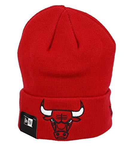 New Era Cuff Knit Chicago Bulls Beanie Mütze Team Essential - Rot, Rot, Einheitsgröße -
