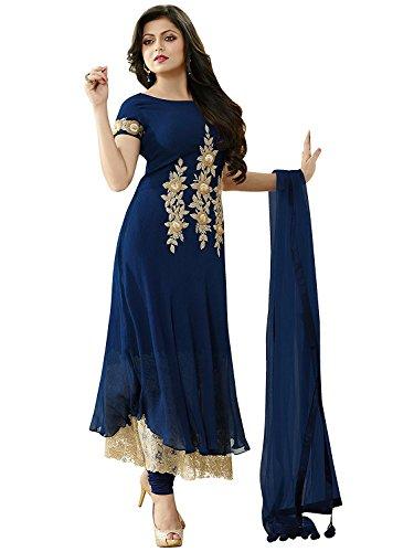 New-Arrival-Fancy-Blue-Georgette-Anarkali-Semi-stitched-Salwar-suit-Dress-Material