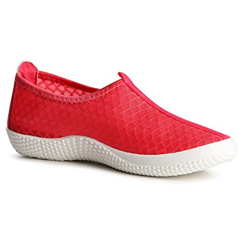topschuhe24 848 Damen Slipper Sneaker Ballerina Wasserschuhe Korall