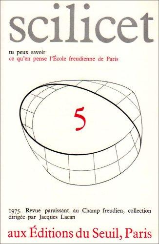 Scilicet, numéro 5 par Ecole freudienne de Paris