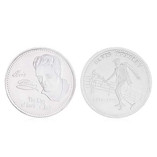 Fugift Gedenkmünze Elvis Presley Sammlung Kunst Geschenk BTC Bitcoin Alloy Souvenir (Elvis-souvenir)
