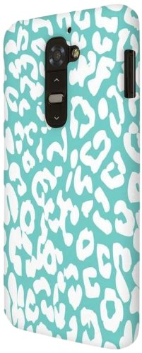 ies One Piece Slim-Fit Case Tasche Hülle for LG G2 - Mint Leopard (NOT Compatibl ()
