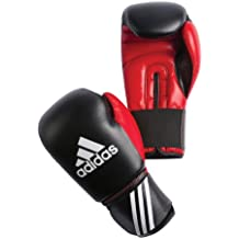 adidas Boxhandschuhe Response 3C - Guantes de boxeo para combate, Negro/Rojo, 10