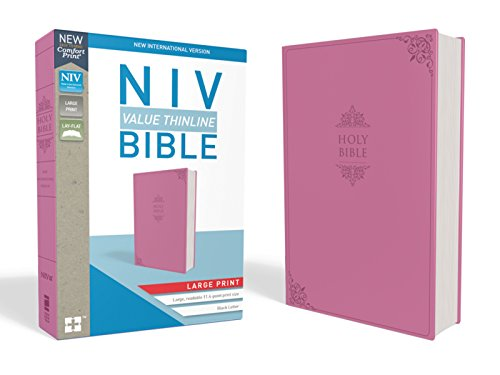 NIV, Value Thinline Bible, Large Print, Imitation Leather, Pink