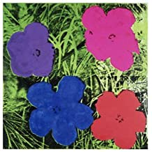 Lámina 'Flowers (Purple, Blue, Pink, Red)', de Andy Warhol, Tamaño: 36 x 28 cm