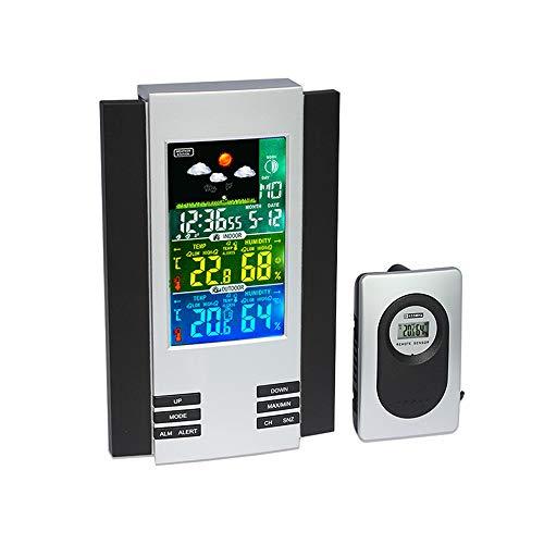 CNMF Funk Wetterstation, LCD-Farbdisplay für die Innen- und Außenthermometer-Hygrometer-Wetterstation