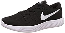 Nike Mens Lunarglide 8 Black Running Shoes - 7.5 UK/India (42 EU)(8.5 US)(843765-100)