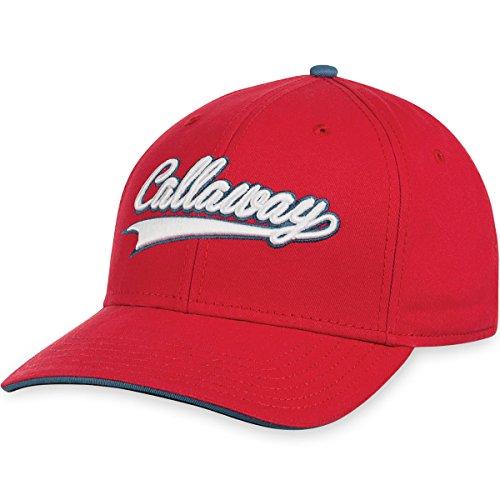 Callaway Golf 2016 Throwback Lightweight Adjustable Mens Structured Golf Cap Red Throwback Hat Cap