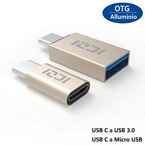 ICZI Adaptador USB Tipo C Micro USB + Adaptador USB